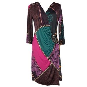 AA Studio Graphic Body Con Dress Sz 12